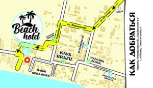 Beach hotel Koblevo map
